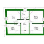 Grundriss Dachgeschoss nach Umbau