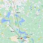 Karte Entfernung
